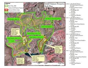Prescribed Burn Locations, Schiff Nature Preserve, Mendham, NJ