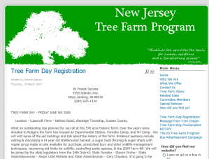 New Jersery Tree Farm Program - Tree Farm Day Registration_1242737680579