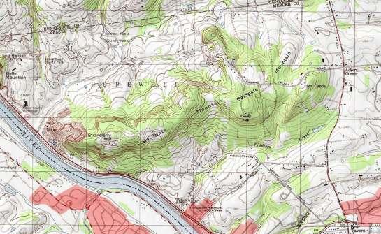 Baldpate Mountain USGS Topo