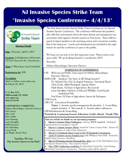 NJ Invasive Species Conference